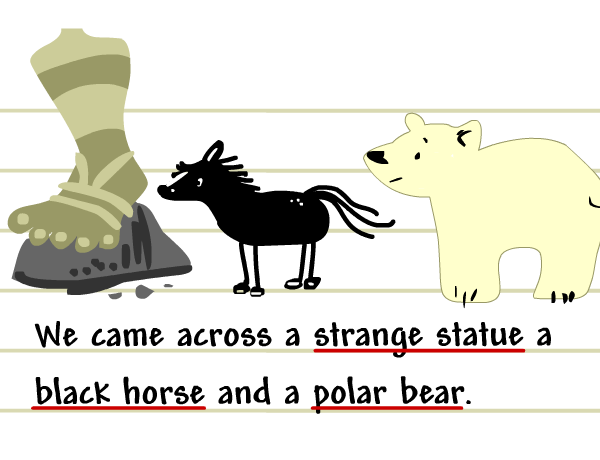 Image for Commas with Adjectives and Lists
